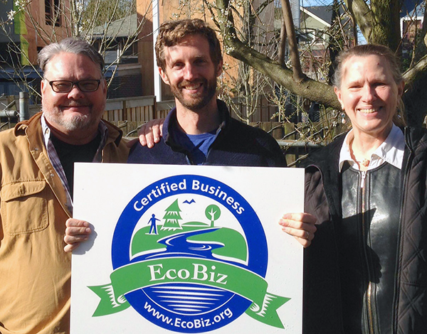 L-R: Brett Hulstrom - City of Portland, Ian Wilson, Owner - Portland Edible Gardens, Margaret Puckette - PPRC