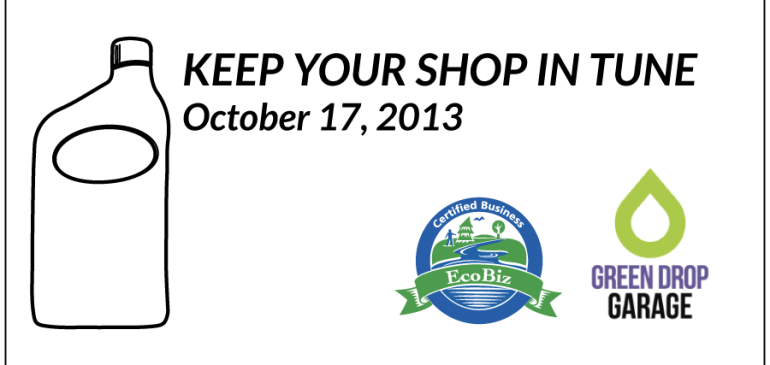 Keep Your Shop in Tune – October 17, 2013