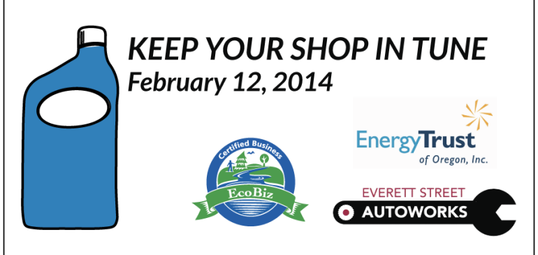 KEEP YOUR SHOP IN TUNE – FEB 12, 2014