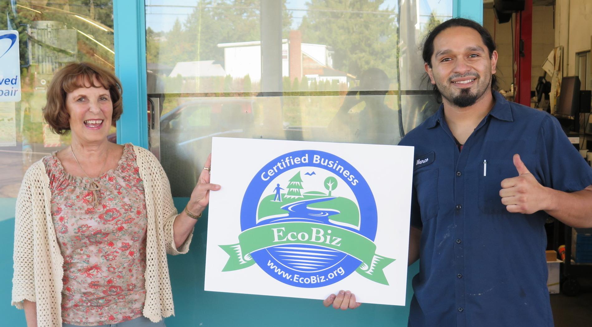 Du Fresne's Auto Repair EcoBiz Certified