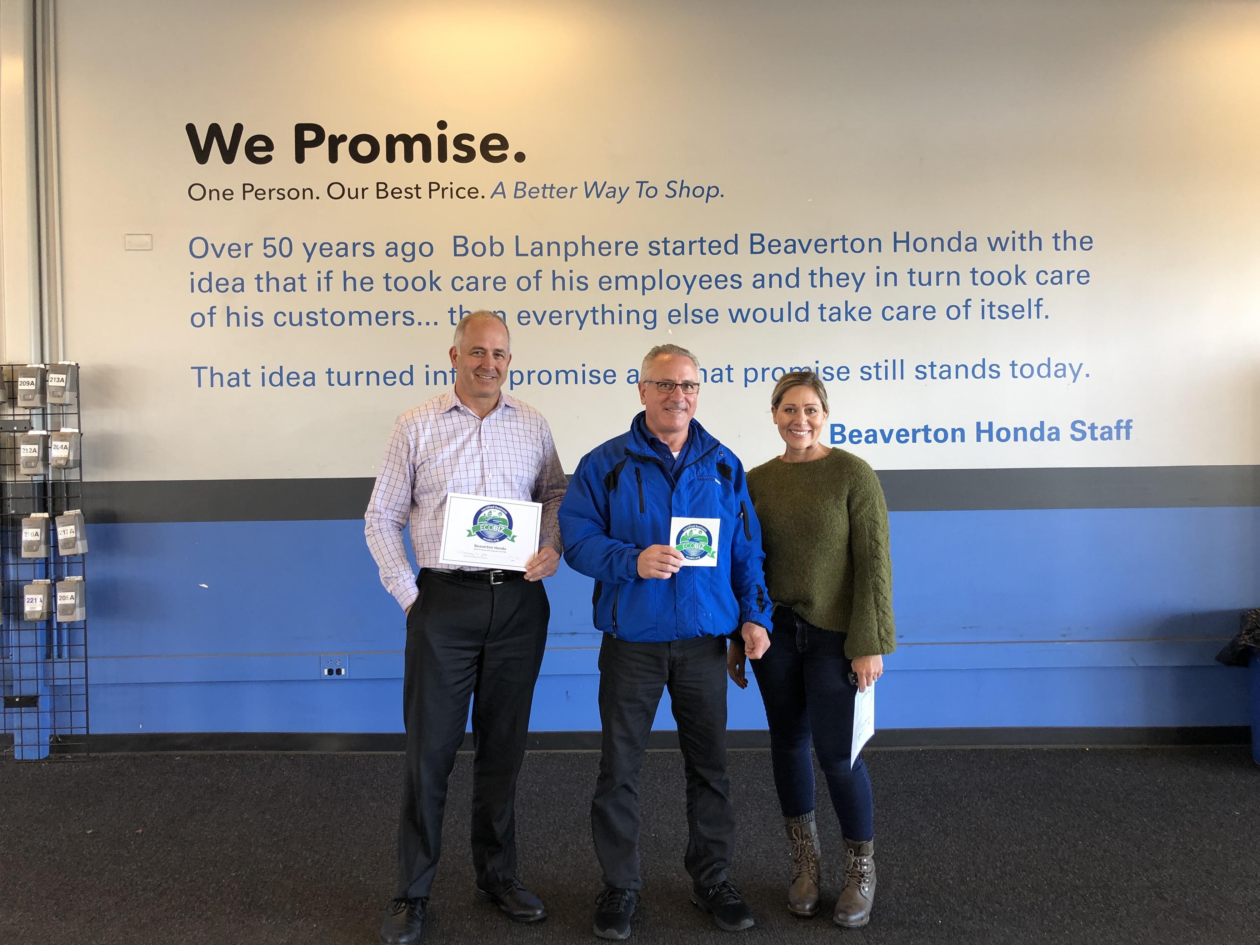 Bob Lanphere's Beaverton Honda Re-Certified